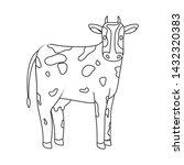 vector design of cow and calf... | Shutterstock .eps vector #1432320383