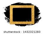 gold glitter frame and ink... | Shutterstock .eps vector #1432321283