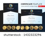 certificate template with... | Shutterstock .eps vector #1432323296