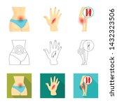 vector design of hospital and...   Shutterstock .eps vector #1432323506
