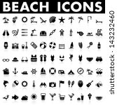 beach icons | Shutterstock .eps vector #143232460