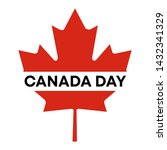 happy canada day. 1st  july.... | Shutterstock .eps vector #1432341329