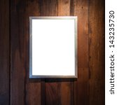 frame for photo on the old wood ... | Shutterstock . vector #143235730