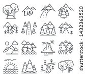nature landscape icons  thin... | Shutterstock .eps vector #1432363520