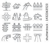 vector illustrations line road... | Shutterstock .eps vector #1432363523