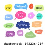 chat words bubbles. colorful... | Shutterstock .eps vector #1432364219