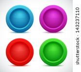 set of colorful web buttons ... | Shutterstock .eps vector #143237110
