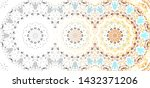 color fading horizontal mosaic... | Shutterstock . vector #1432371206