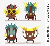 set of cartoon characters in... | Shutterstock .eps vector #1432379156