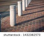 Stone Bollards On Street City...