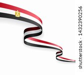 egyptian flag wavy abstract... | Shutterstock .eps vector #1432390256