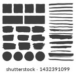 black rough edge box. brush... | Shutterstock .eps vector #1432391099