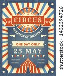 circus retro poster. best in... | Shutterstock .eps vector #1432394726