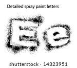 detailed spray paint font ee   Shutterstock .eps vector #14323951