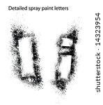 detailed spray paint font ii   Shutterstock .eps vector #14323954