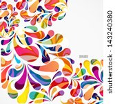 rounded colorful arc drops.... | Shutterstock .eps vector #143240380