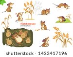 mouse. field mouse character... | Shutterstock .eps vector #1432417196