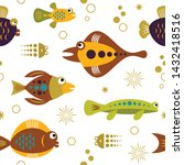 seamless pattern with unusual... | Shutterstock .eps vector #1432418516