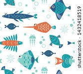 seamless pattern with unusual... | Shutterstock .eps vector #1432418519