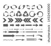 set arrow icons. arrow icon.... | Shutterstock .eps vector #1432430000