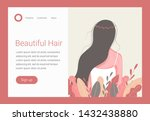 hair care concept. beautiful... | Shutterstock .eps vector #1432438880