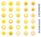 vector set of different suns. | Shutterstock .eps vector #143244043