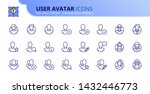 simple set of outline icons... | Shutterstock .eps vector #1432446773