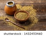 Traditional Argentinian beverage know as mate yerba tea