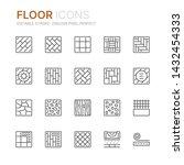 collection of floor related... | Shutterstock .eps vector #1432454333