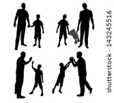 Group Silhouettes Of Man And...