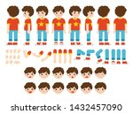 mascot creation kit of little... | Shutterstock .eps vector #1432457090