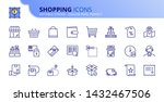 simple set of outline icons... | Shutterstock .eps vector #1432467506