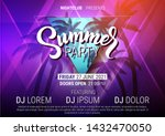 summer party disco poster with... | Shutterstock .eps vector #1432470050