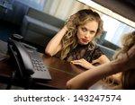 sexy beautiful girl interior | Shutterstock . vector #143247574