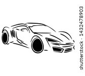 sport car icon vector symbol... | Shutterstock .eps vector #1432478903