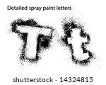 detailed spray paint font tt   Shutterstock .eps vector #14324815