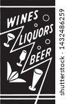 wines liquors beer 6   retro ad ...   Shutterstock .eps vector #1432486259