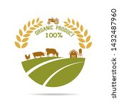 farm fresh of vector emblems... | Shutterstock .eps vector #1432487960