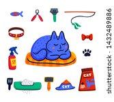 pet grooming concept. cute...   Shutterstock .eps vector #1432489886