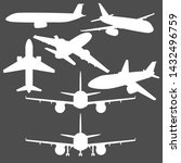 vector set of civil airplanes.... | Shutterstock .eps vector #1432496759