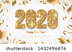 happy new year banner with gold ... | Shutterstock .eps vector #1432496876