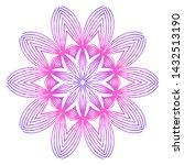 floral color mandala. arabic ... | Shutterstock .eps vector #1432513190