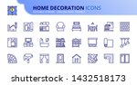 simple set of outline icons... | Shutterstock .eps vector #1432518173