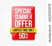 special summer offer shopping... | Shutterstock .eps vector #1432525379