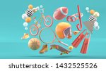helmet  tennis racket ... | Shutterstock . vector #1432525526