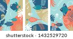 collection of abstract... | Shutterstock .eps vector #1432529720