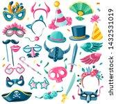 carnival items set isolated... | Shutterstock .eps vector #1432531019