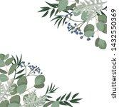 vector template with eucalyptus ... | Shutterstock .eps vector #1432550369