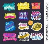 set of refreshing beverages...   Shutterstock .eps vector #1432556540