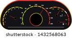 speedometer vector car speed... | Shutterstock .eps vector #1432568063